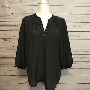 Old Navy quarter sleeve sequence v neck blouse